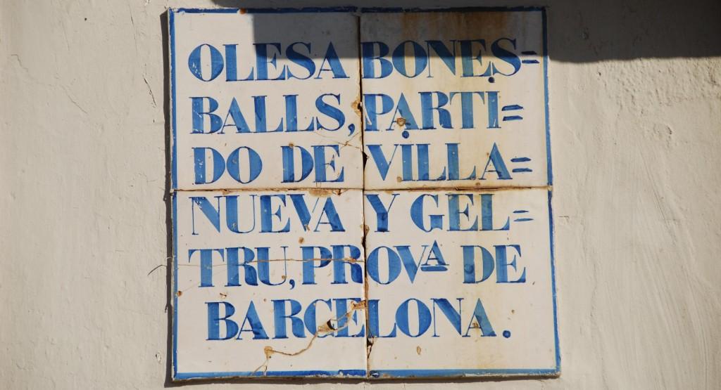 Olesa de Bonesvalls (PLaca Antiga)