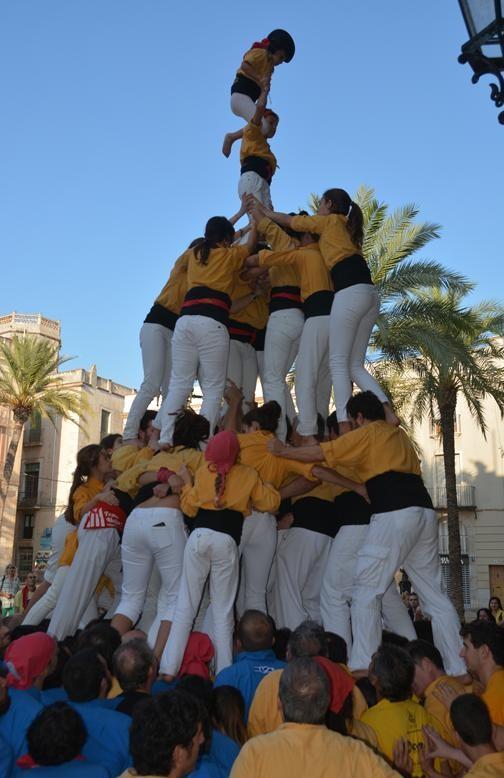 43è Dia de la colla amb Bordegassos,Xiqüelos del Delta, Cstellers de Castelldefels i Minyons de l'Arboç (427)