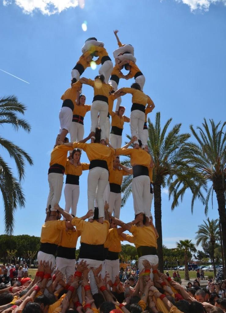 150418 Prèvia de Sant Jordi amb Castellers de Badalona i Margeners de Guissona (142)